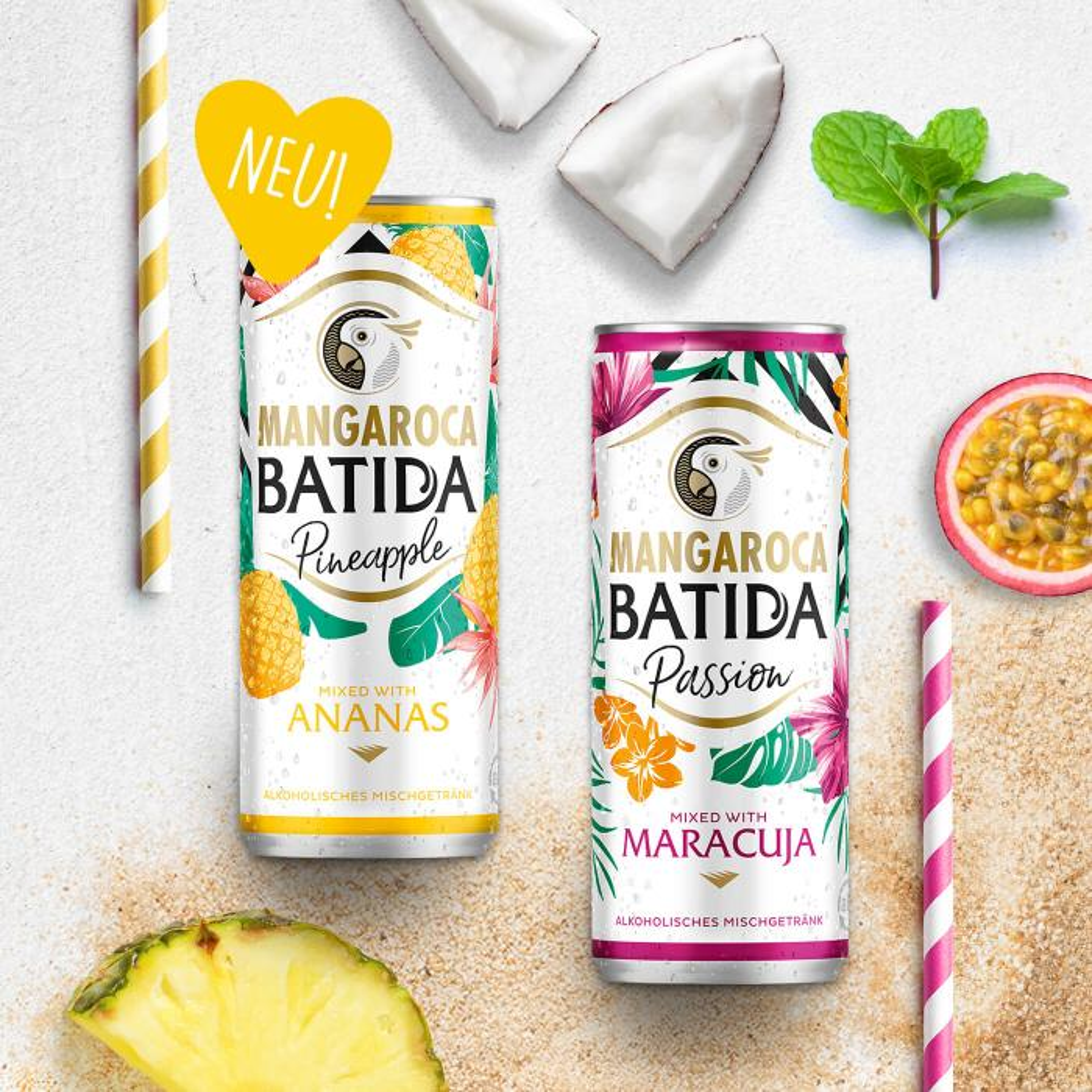 """Mangaroca Batida Passion & Pineapple"